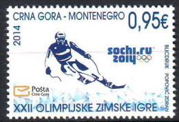 Montenegro 2014 Winter Olympic Games SOCHI, Russia, Skiing, MNH - Winter 2014: Sochi