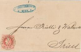 Wien Habsburggasse Brief Nach Triest - 1850-1918 Empire