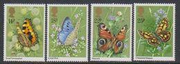 Great Britain 1981 Butterflies 4v ** Mnh (43607) - 1952-.... (Elizabeth II)