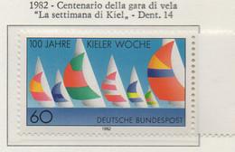 """PIA - GERMANIA : 1982 : Centenario Della Gara Di Vela """"Settimana Di Kiel"""" - (Yv 964) - Vela"""