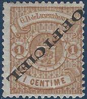 Luxembourg Service N°10A* Surcharge Renversée Très Frais - Service