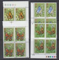 Great Britain 1981 Butterflies 4v Bl Of 4 (corners) ** Mnh (43608A) - 1952-.... (Elizabeth II)