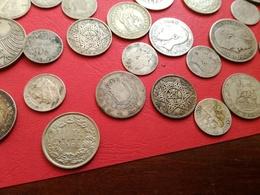 Énorme Lot 160 Monnaies Argent - Coins & Banknotes