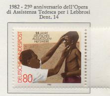 PIA - GERMANIA : 1982 : 25° Anniversario Dell' Opera Di Assistenza Tedesca Per I Lebbrosi - (Yv 978) - Malattie