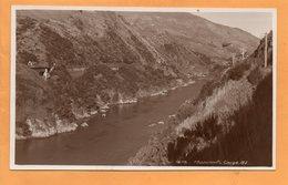 Manawatu Gorge New Zealand Old Real Photo Postcard - New Zealand
