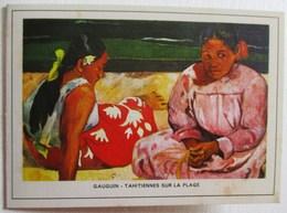CALENDRIER 1971 PETIT FORMAT GAUGUIN TAHITIENNES SUR LA PLAGE AUBERGE DE LA GENEVRAYA  FONTAINEBLEAU - Calendriers