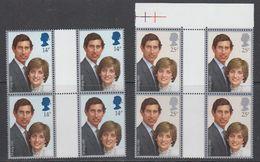Great Britain 1981 Royal Wedding 2v 2 Gutter ** Mnh (43612) - 1952-.... (Elizabeth II)