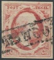 [58955]TB//O/Used-c:35e-N° 2, 10c Rose Carminé TB Margé (pl.VIII) - 1852-1890 (Guillaume III)