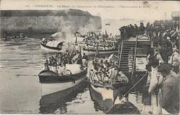 Cherbourg - Le Départ Des Compagnies De Débarquement à L'embarcadère Du Beton - Cherbourg