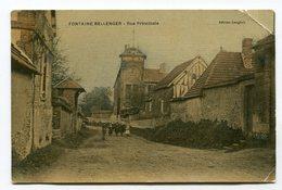 CPA   27 : FONTAINE BELLENGER   Rue Principale Animée  VOIR  DESCRIPTIF §§§ - France