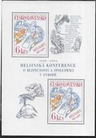 CECOSLOVACCHIA - CONFERENZA EUROPEA DI HELSINKI 1976 - FOGLIETTO NUOVO ** (YVERT BF 39 - MICHEL BL 33) - Blocchi & Foglietti