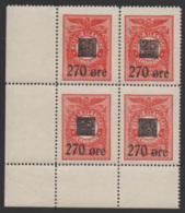 Denmark, Ostsjaellandske Jernbane, Block Of 4, Railway Stamp, MNH. - Danimarca