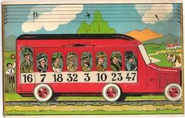 MICHELIN 6 Cartons De Jeu LOTO RAIL La MICHELINE Autobus Sur Rails éditions Saussine - Sonstige
