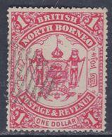 Bornéo Du Nord : Compagnie N° 26 O Armoiries, 1 D. Rose Oblitération D'annulation Sinon TB - Bornéo Du Nord (...-1963)