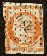 RARE CERES N°5a 40c Orange Vif Oblitéré Losange DS2 Cote 600 Euro PAS D'AMINCI - 1849-1850 Ceres