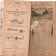 Carte Routière MICHELIN 1920 Limoges N°27 En 48 Feuilles Dos Champs De Bataille 1914-1918 - Carte Stradali