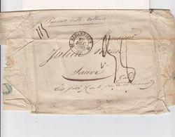 Sur L. Ss Courrier CAD T. 12 Bédarieux Avec 2 R Déc. 1839. CAD T. 15 Montpellier. Inscr. Papier De Nulle Valeur. (2443x) - 1801-1848: Précurseurs XIX