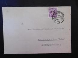 Bizone Mi. 12? Brief Von Karlsruhe Grünwinkel 15.12.1945 Als Ortspost - Zone Anglo-Américaine