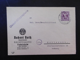 Bizone Mi. 12? Brief Von Karlsruhe Liedolsheim Als Ortspost - Zone Anglo-Américaine