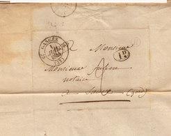 Sur LAC Pour Sauve CAD T. 12 Ganges Hérault. Taxe Plume. Décime Rural. (2445x) - Marcophilie (Lettres)