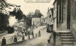 21 CHATILLON SUR SEINE LE TRAIN QUARTIER DES CORDELIERS ET ROUTE DE DIJON - Chatillon Sur Seine