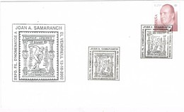 33516. Carta Exposicion EL VENDRELL (Tarragona) 2002. Joan A. SAMARANCH, Olimpiadas - 1931-Hoy: 2ª República - ... Juan Carlos I