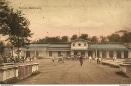 Indonesia, JAVA BANDUNG, Railway Station (1910s) Postcard - Indonesië
