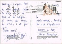 33517. Postal SANTIAGO De COMPOSTELA (Coruña) 1985. Catedral De Santiago - 1931-Tegenwoordig: 2de Rep. - ...Juan Carlos I