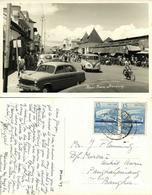 Indonesia, JAVA BANDUNG, Pasar Baru, VW V.W. Bus (1957) RPPC Postcard - Indonesië