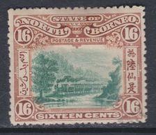 Bornéo Du Nord : Compagnie N° 111 X  Partie De Série Courante : 16 C. Brun-roux Et Vert  Trace De Charnière Sinon TB - Bornéo Du Nord (...-1963)