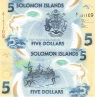 SOLOMON ISLANDS 5 Dollars 2019 NEW UNC Plastic Polymer - Isla Salomon