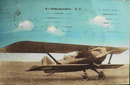 CPA. > Aviation >  Avions > Entre Guerres 1935 > Mourmelon Avion Au Départ - TBE - 1919-1938: Entre Guerres