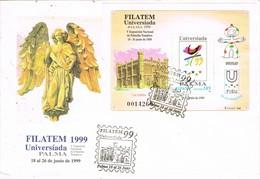 33522. Carta PALMA De MALLORCA (Baleares) 1999. Hojita FILATEM 99, Universiada - 1931-Hoy: 2ª República - ... Juan Carlos I