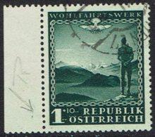 Österreich. 1945, MiNr 720, Gestempelt, Plattenfehler - 1945-.... 2. Republik