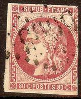 EXTRA BORDEAUX N°49b 80c Rose Vif Oblitéré Losange GC Cote 350 Euro PAS AMINCI - 1870 Emissione Di Bordeaux
