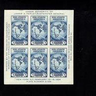 803511701 1934 SCOTT 735 MET SCHARNIER - HINGEND - MIT FALZ (X)  NATIONAL STAMP EXHIBITION SHEET - Unused Stamps