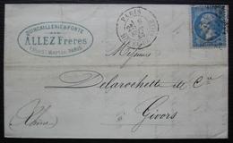 Paris 1866 Quincaillerie & Fonte Allez Frères 1 Rue Saint Martin - 1849-1876: Periodo Clásico