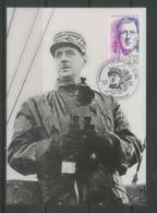 303 Charles De Gaulle - CARTE Carte Maximum (card) N° 2634 1990 BAPAUME - Maximum Cards