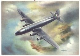 CP Avion à Hélice En Vol , ALITALIA  , - 1946-....: Moderne