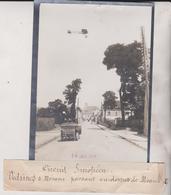 CIRCUIT EUROPÉEN VEDRINES S MORANE PASSANT MEAUX  Seine-et-Marne 18*13CM Maurice-Louis BRANGER PARÍS (1874-1950) - Aviación
