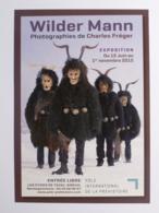 HOMME SAUVAGE / WILDER MANN - EUROPE - Portraits Rituels / Masque - Photographie FREGER - Carte Pub Expo EYZIES TAYAC - Europa