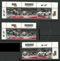 ITALIA  2010 - Made In Italy : ALFA ROMEO - Da Foglietto , 3 Blocchi Con Codice A Barre - - Blocchi & Foglietti
