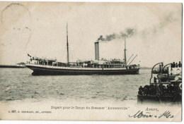 Anversville   Depart Pour Le Congo Du Steamer - Steamers
