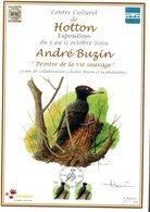 Belgie Andre Buzin Birds Herdenkingsblad 3264 Hotton 19/9/2009 - 1985-.. Oiseaux (Buzin)