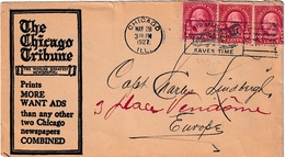 Enveloppe USA (sans Correspondance) Adressée à Charles LINDBERG Le 22/5/1927 Traversée De L'Atlantique  HK - Autógrafos