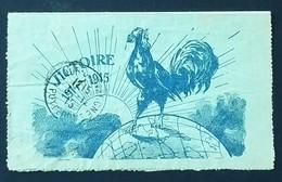 Carte-lettre De Franchise Militaire Illustrée COQ Et MAPPEMONDE Du 92ème D'Infanterie Vers La-Tour-d'Auvergne Nov 1915 - Marcophilie (Lettres)