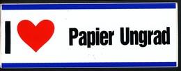 Vignette Sticker   I Hou Van Papier Ungrad - Vignetten (Erinnophilie)