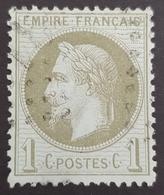 1863-1870, Emperor Napoléon Lll, 1c, Empire Français, France - 1863-1870 Napoleon III With Laurels