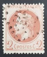 1863-1870, Emperor Napoléon Lll, 2c, Empire Français, France - 1863-1870 Napoleon III With Laurels