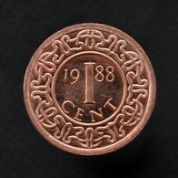 Suriname 1 Cent 1988. UNC, South America Coin. Km11b - Suriname 1975 - ...